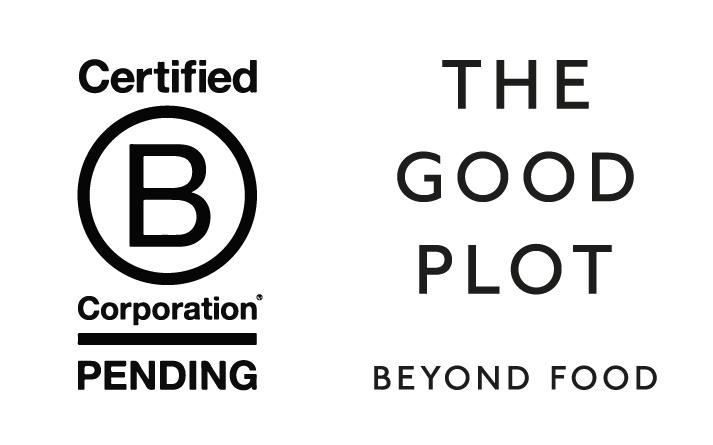 BCorp pending logo and The Good Plot logo